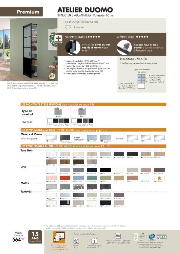 Page modèle Sogal Placard pivotant Atelier Duomo