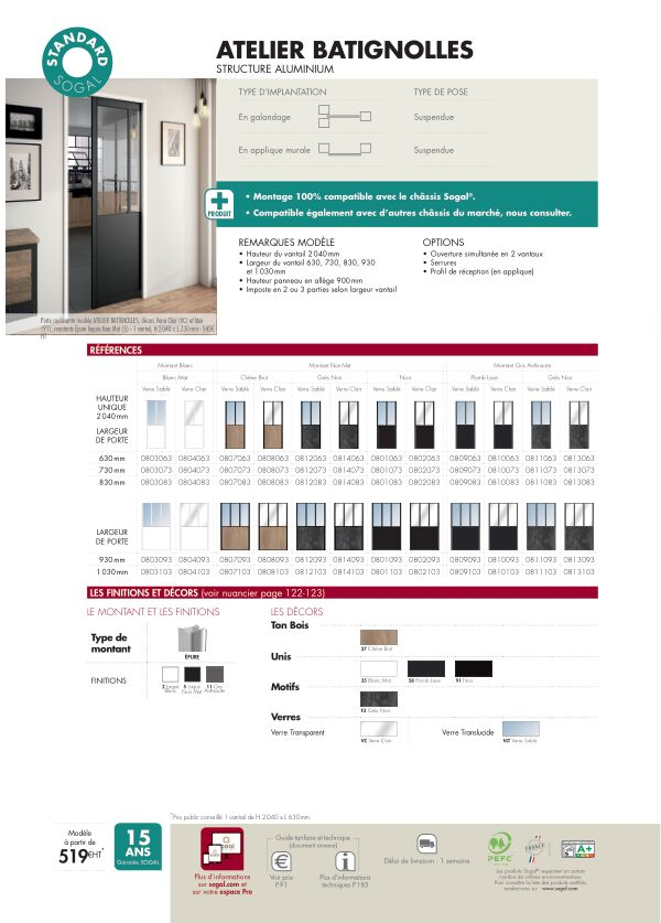 Atelier Batignolles Standard