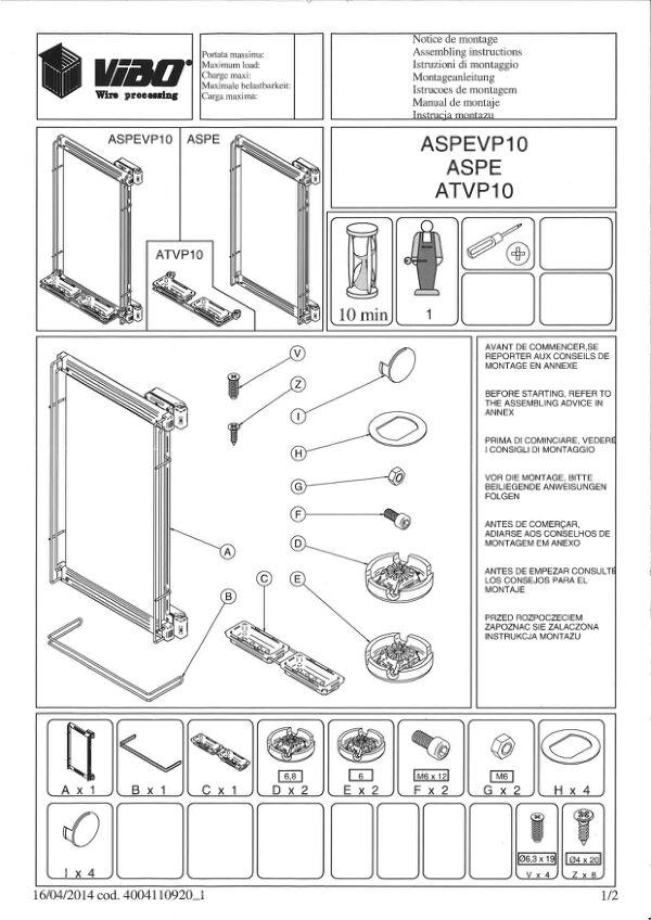 Notice de montage Sogal Aménagement Miroir pivotant