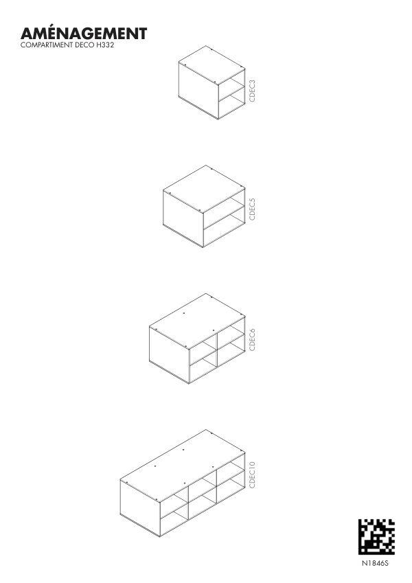 Notice de montage Sogal Aménagement Cube déco H 332 mm