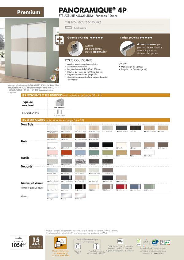 Page modèle Sogal Placard coulissant Panoramique® 4P