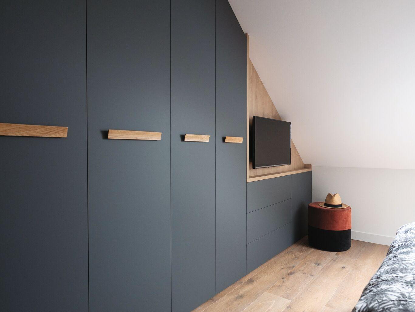 armoire dressing tv chambre sur mesure