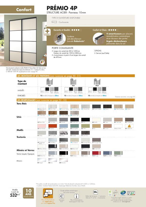 Page modèle Sogal Placard coulissant Prémio 4P