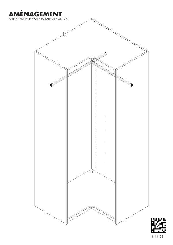 Notice de montage Sogal Aménagement Barre penderie fixation latérale angle