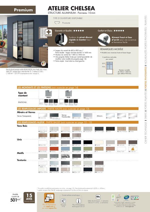 Page modèle Sogal Placard pivotant Atelier Cheslea