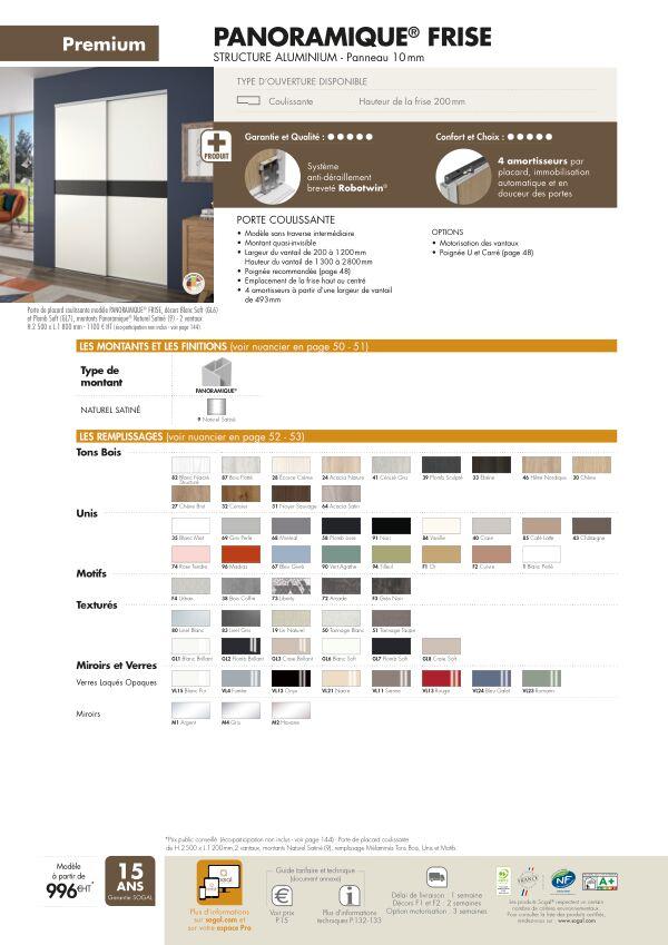 Page modèle Sogal Placard coulissant Panoramique® 3P frise