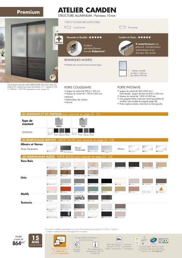 Page modèle Sogal Placard coulissant Atelier Camden
