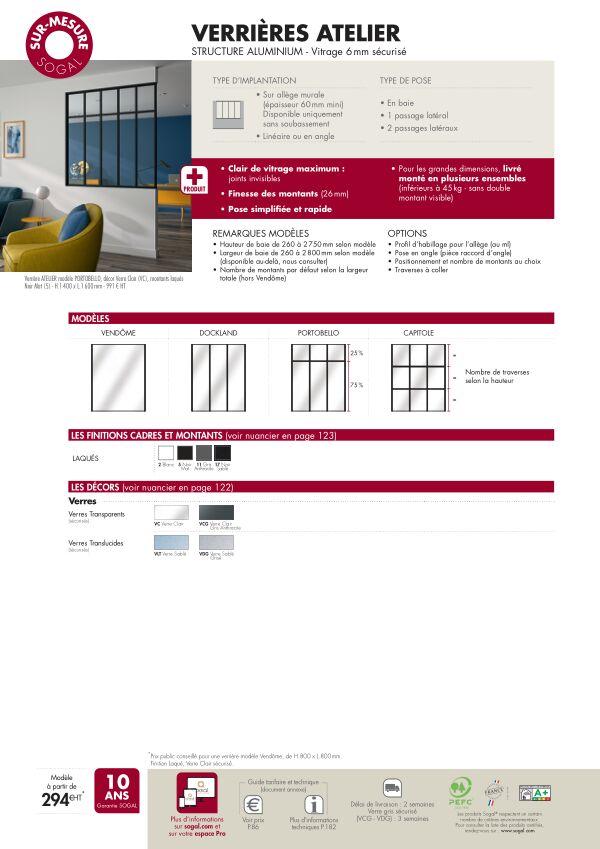 Page modèle Sogal Verrière Atelier sur-mesure