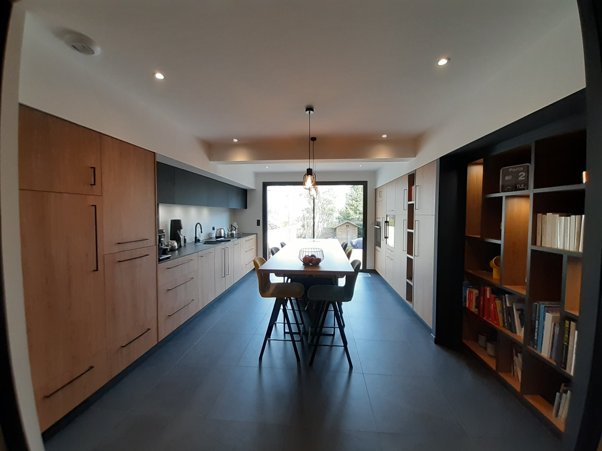 salon cuisine aménagé sur mesure