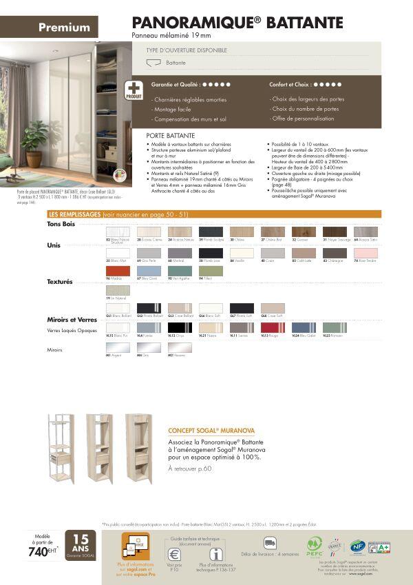 Page modèle Sogal Placard Panoramique battante