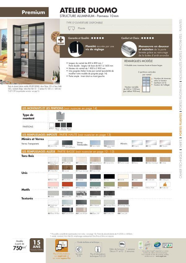Page modèle Sogal Placard pliant Atelier Duomo