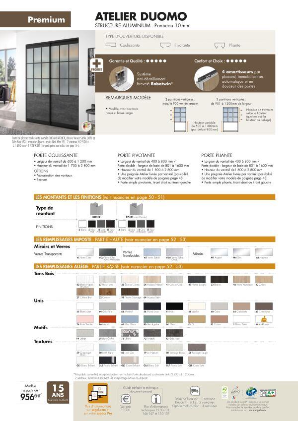 Page modèle Sogal Placard coulissant Atelier Duomo