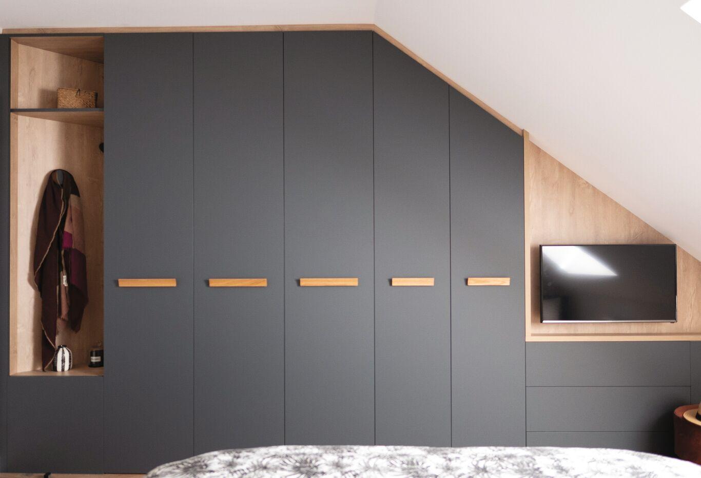 armoire et meuble tv chambre sur mesure