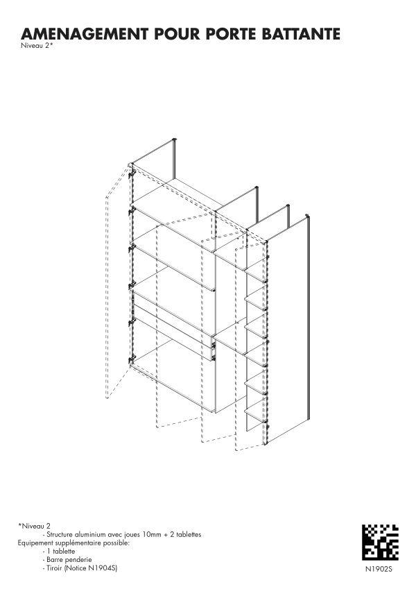 Notice de montage Sogal Aménagement Muranova Niveau 2
