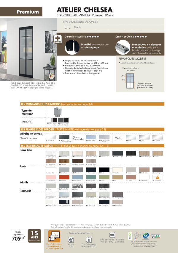 Page modèle Sogal Placard pliant Atelier Cheslea