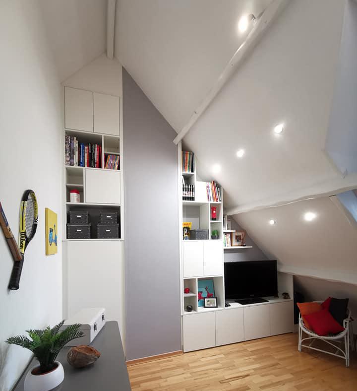 armoire sous pente petite chambre
