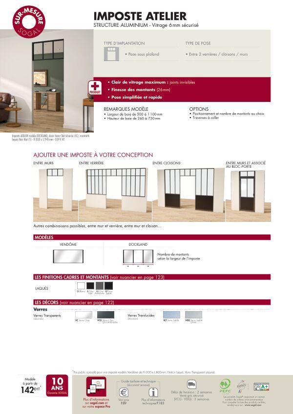 Page modèle Sogal Imposte Atelier