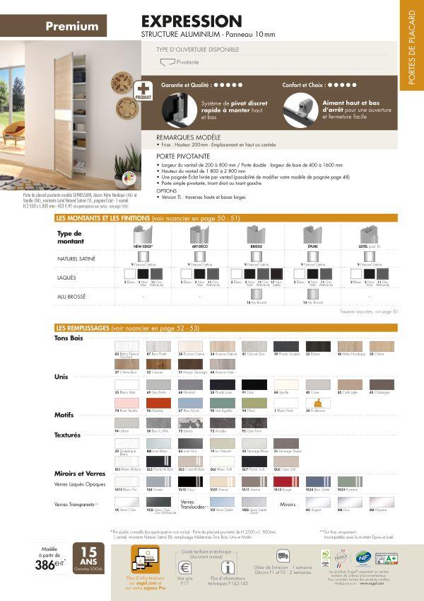 Page modèle Sogal Placard pivotant Expression