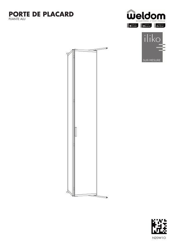 Portes de placard pliantes aluminium weldom N20W1O
