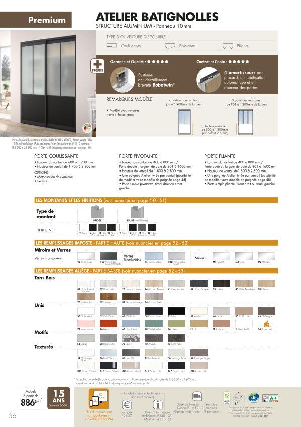 Page modèle Sogal Placard coulissant Atelier Batignolles