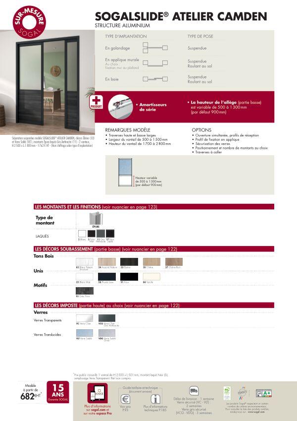 Page modèle Séparation coulissante Sogalslide Atelier Camden