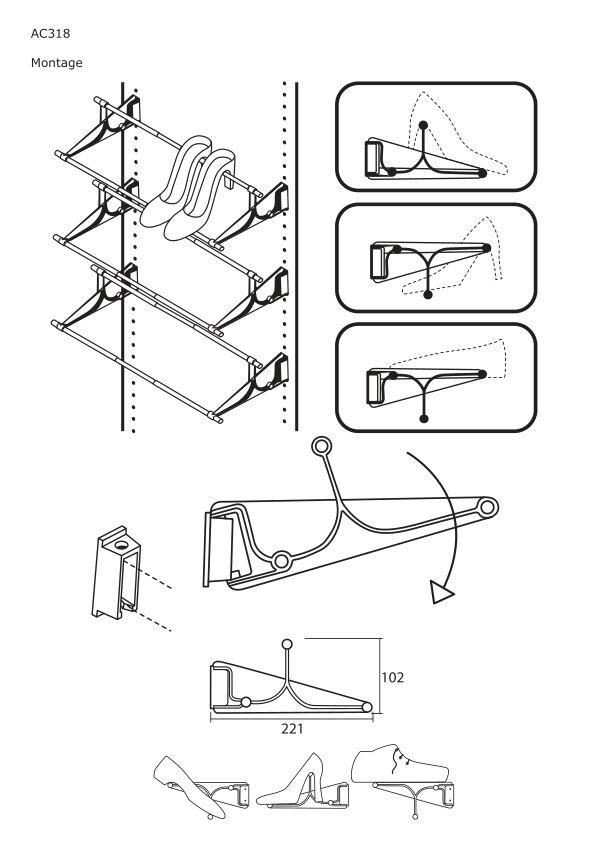 Notice de montage Sogal Aménagement Porte chaussure extensible