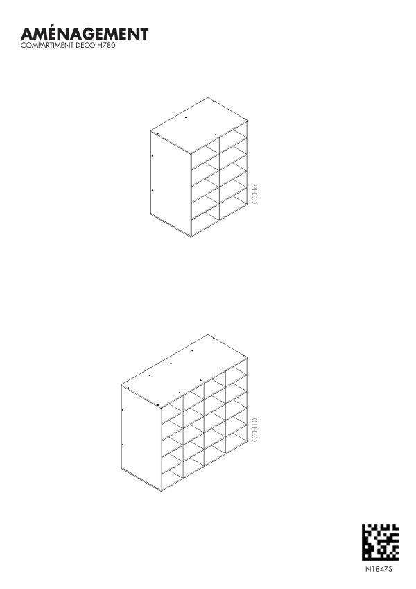 Notice de montage Sogal Aménagement Cube déco H 780 mm