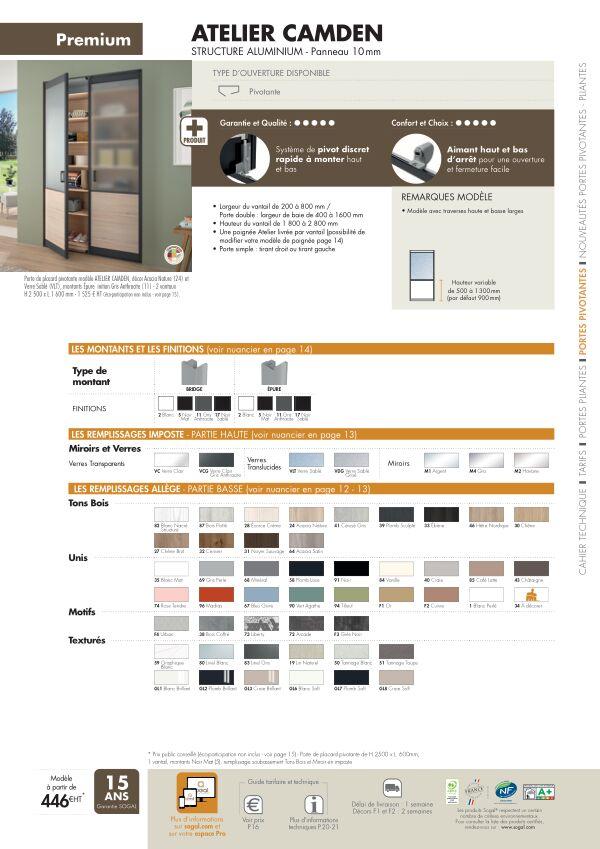 Page modèle Sogal Placard pivotant Atelier Camden