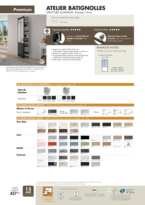 Page modèle Sogal Placard pivotant Atelier Batignolles