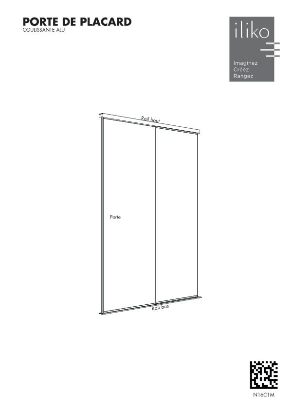 Notice portes de placard coulissantes aluminium N16C1M